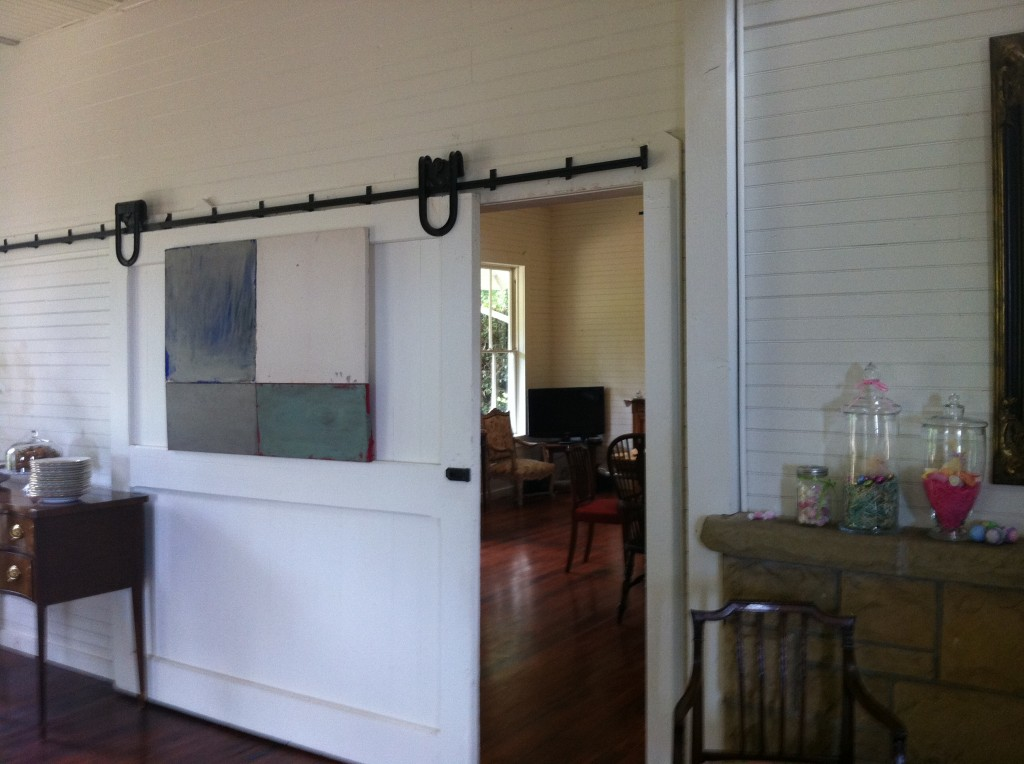 Easter at the lemon house mccormick interiors for Barn doors to separate rooms