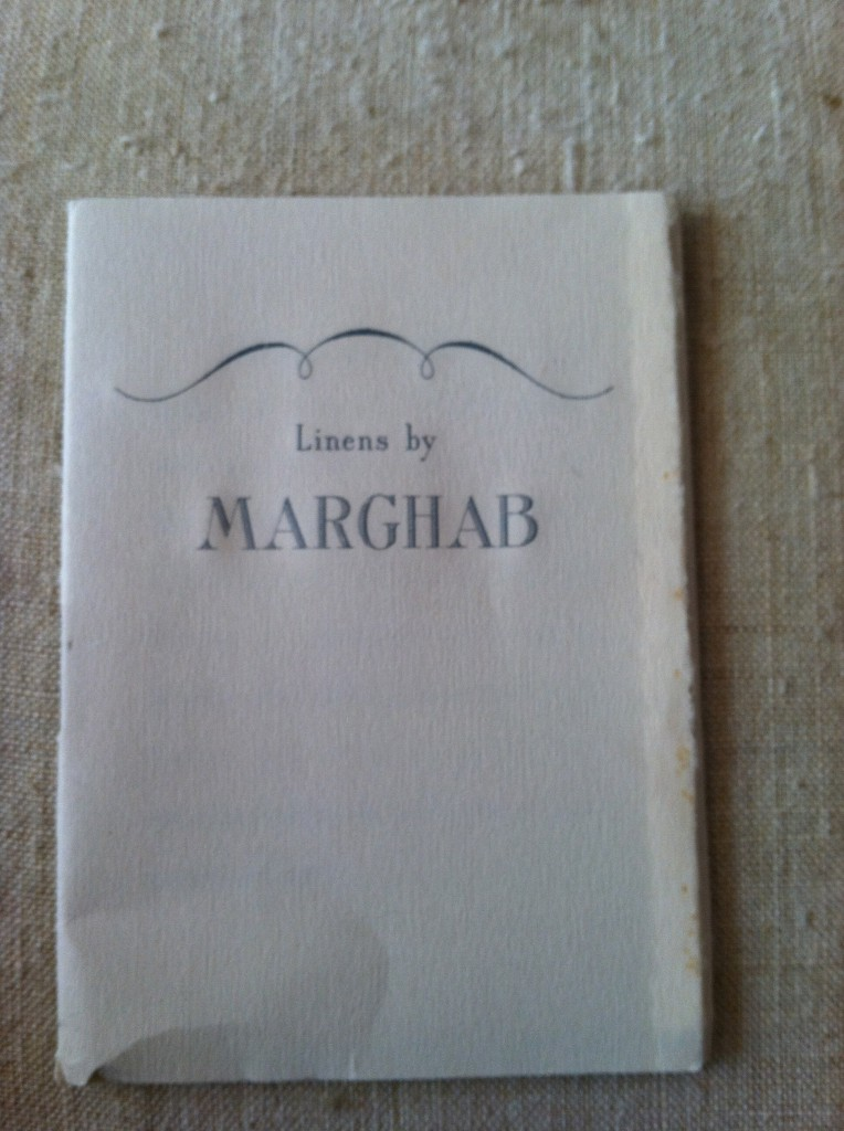 "The finest embroidered linens:  the legendary ""Marghab""!!"