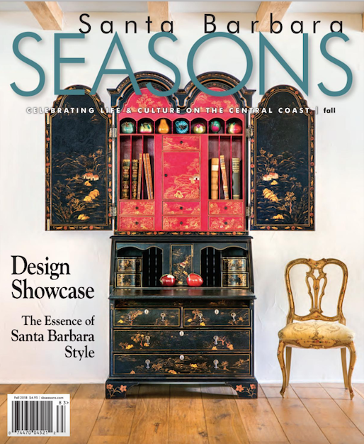 Montecito Foothills Meet French Country Chic!  Our clients house in SB Seasons magazine!