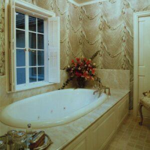 classic bathroom in cream colors