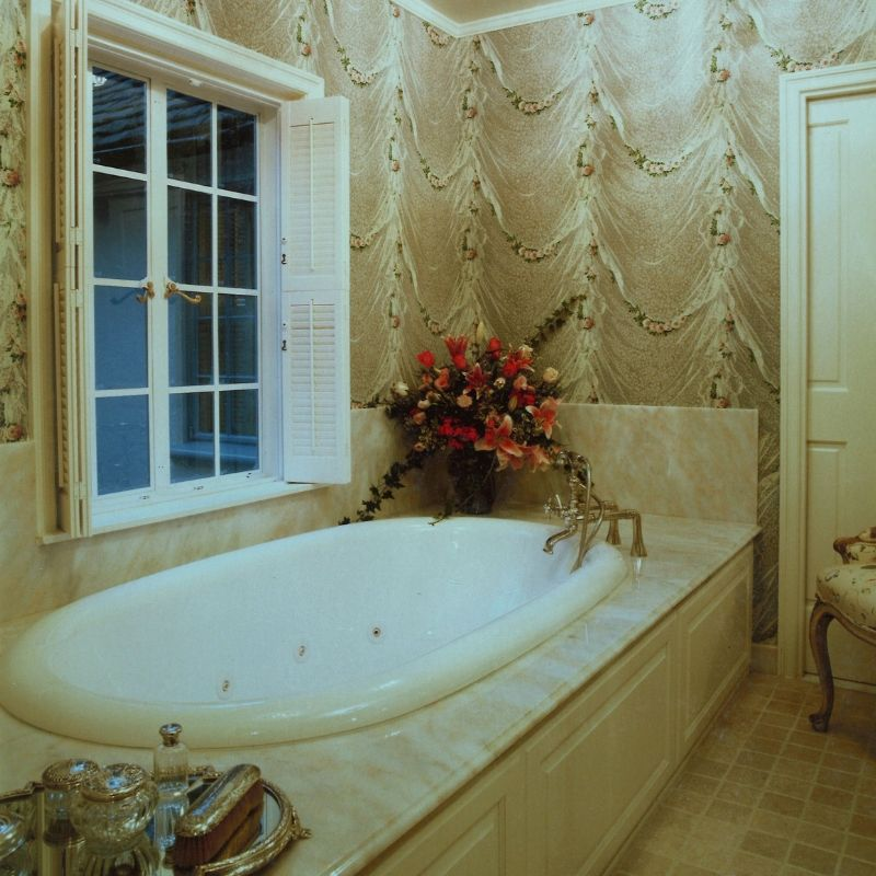 classic bathroom in cream colors