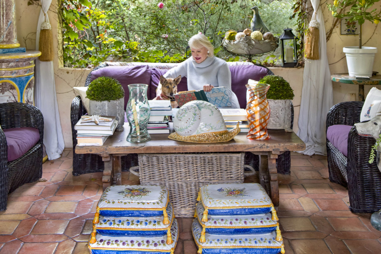 Penny at her French Farmhouse Montecito