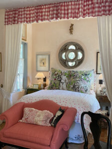 Penny's bedroom renovation at the French Farmhouse Montecito property
