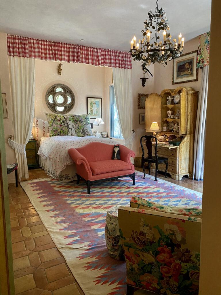 bedroom renovation at French Farmhouse Montecito property