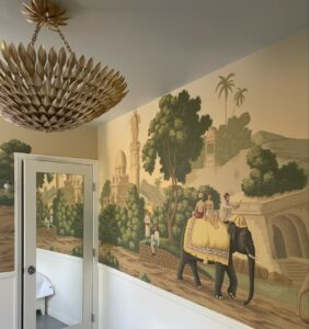 wallpaper in the Santa Monica Spanish Colonial